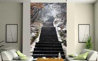 100 луших идей: фотообои и фрески в интерьере квартиры на фото
