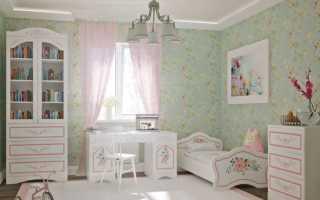 Детская в стиле прованс — подобраем мебель, освещение и декор