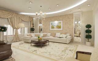 Комбинирование обоев в гостиной: фото идеи интересных сочетаний и правила применения в дизайне