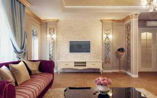 Выбираем обои для гостиной в классическом стиле: классика в интерьере