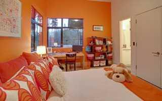 Оранжевый цвет в интерьере — 50 фото идей дизайна