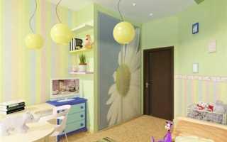 Комбинирование обоев в детской комнате (фото): популярные сочетания