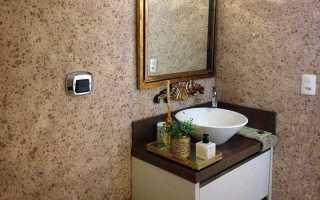 Жидкие обои для ванной комнаты и туалета: виды, технология