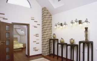 Декоративные кирпичики на стену в коридоре (57 фото): оригинальный дизайн в виде кирпичной кладки в стиле «лофт» в прихожей, отделка белым кирпичом в интерьере