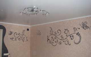 Рисунок жидкими обоями на стене: как красиво и креативно оформить стены и нанести нестандартный объемный рисунок в спальне, коридоре или ванной