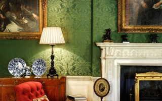 Английские обои для стен в интерьере с фото