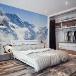 Применение фотообоев в спальне