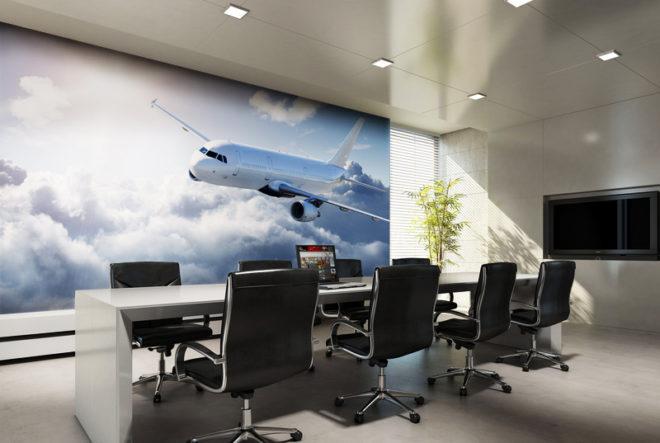 3D фотообои в офисе