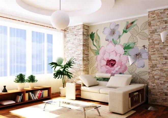 Фотообои нарисованные цветы