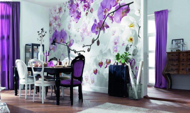 Фотообои в фиолетовом цвете