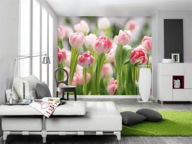 Фотообои с цветами как идея для подарка