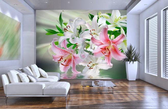Фотообои с лилией